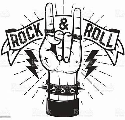 Rock Roll Hand Sign Metal Heavy Vector