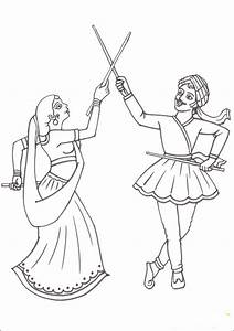 Navratri and Dussehra festival coloring pages - family ...
