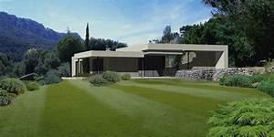 Architecte la valette creation d39une villa contemporaine for Maison en pente forte 14 la cuisine salle a manger