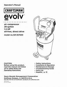 Craftsman Evolv 921 167500 Operator S Manual