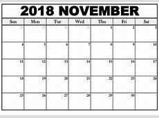 Printable October & November 2018 Printable Calendar [PDF