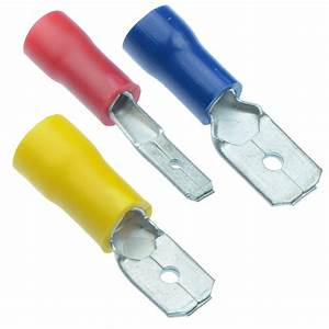 Male Insulated Crimp Connector Spade Electrical Connectors