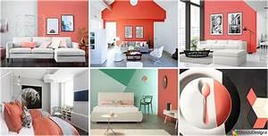 Idee Per Arredare Casa Con Il Living Coral  Colore Pantone 2019