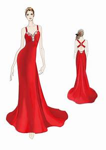 Prom Dress Drawings - ClipArt Best