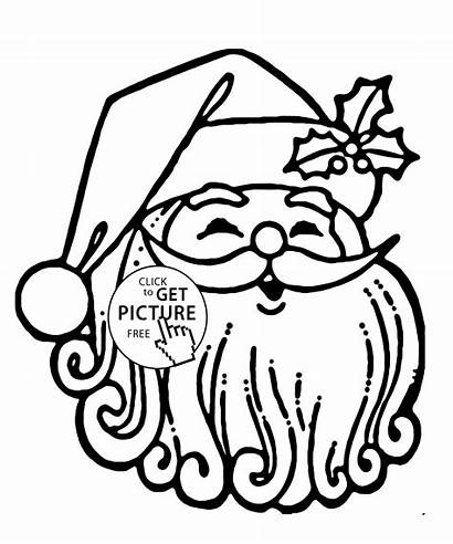 Coloring Santa Christmas Claus Pages Funny Printable
