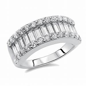 double accent sterling silver rhodium plated wedding With baguette wedding band rings