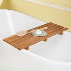 teak tub caddy clawfoot tub accessories bathroom