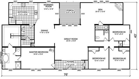 triple wide mobile home floor plans manufactured home  mobile home floor plans canton