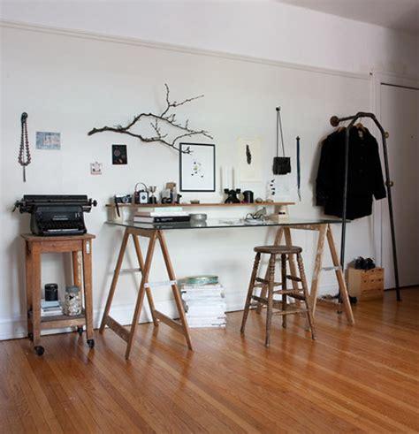 treteaux pour bureau idée un bureau sur tréteaux 12 inspirations et une