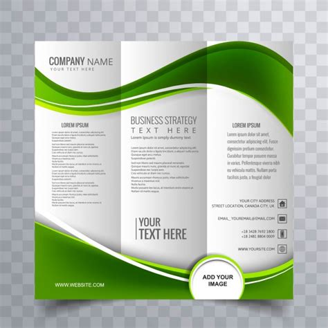 Brochure Templates by Green Wavy Business Brochure Template Vector Free