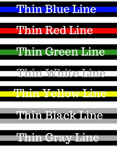 what is the color line what do the thin line colors aspire gear