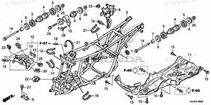 Honda Atv 2019 Oem Parts Diagram For Frame