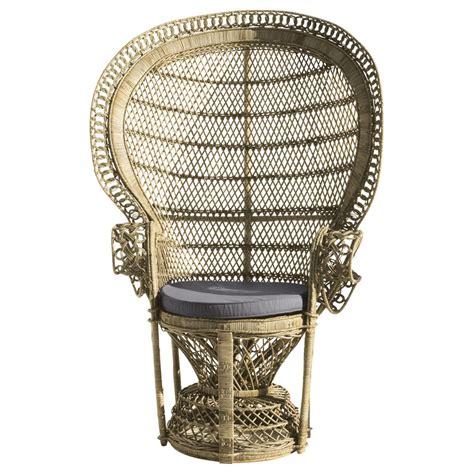 chaise emmanuelle fauteuil en rotin emmanuelle maisons du monde