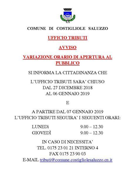Ufficio Tributi Cuneo by Comune Di Costigliole Saluzzo Sito