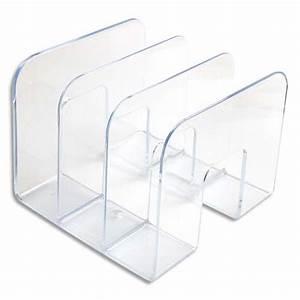 DURABLE Trieur Vertical 3 Compartiments Business Cristal