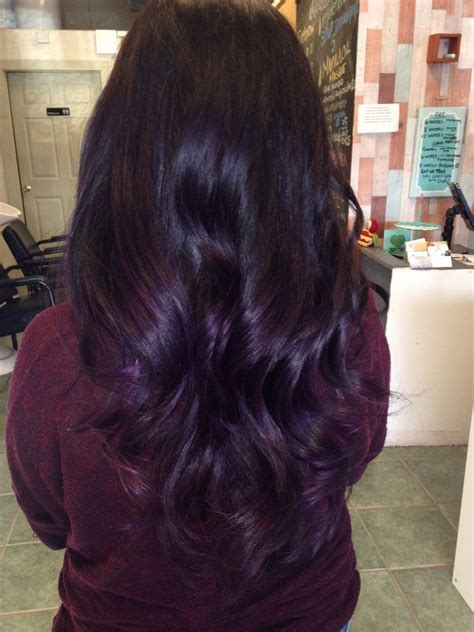 Dark Purple Ombré And Balayage Techniques Hair Hair