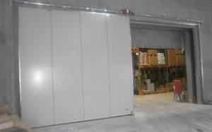porte coulissante coupe feu porte industrielle steible With porte de garage sectionnelle avec porte coupe feu