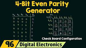 4-bit Even Parity Generator