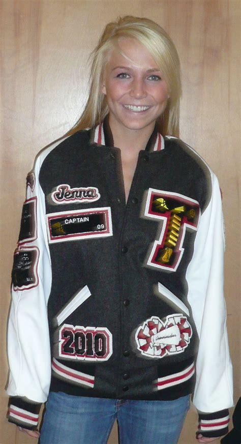 girls varsity jacket cheer captain letterman jackets