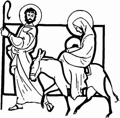 Jesus Coloring Pages Joseph Mary Christmas Religious