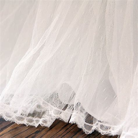 white bed skirt