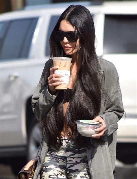 Vanessa Hudgens in Tights - Grabs a Coffee Drink in LA 3 ...
