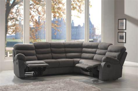 canape angle relax microfibre canapé d 39 angle microfibre avec relax ronald canapé de