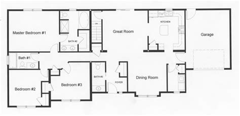 Ranch House Plans Open Floor Plan by Ranch Style Homes Floor Plans Left Side Of The Home
