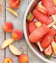 Strawberry Peach Vodka Popsicles