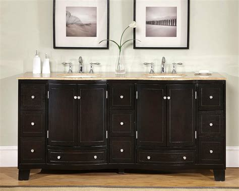 Countertop Bathroom Cabinet by 72 Quot Travertine Countertop Bathroom Vanity