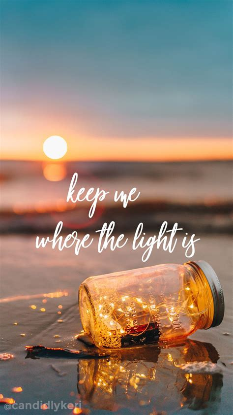 light  quote sunset mason jar