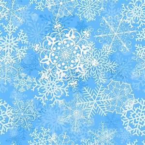 Christmas seamless pattern with big snowflakes on light ...