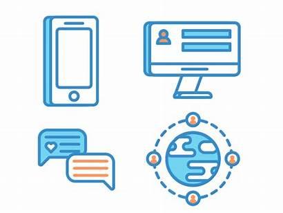 Social Animations Icon Dribbble