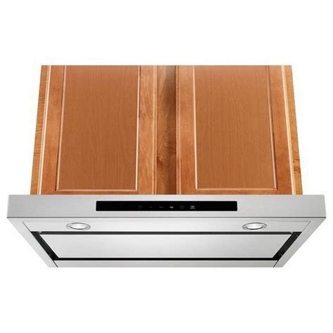 kitchenaid under cabinet range hood kvub400gss kitchenaid 30 quot low profile under cabinet