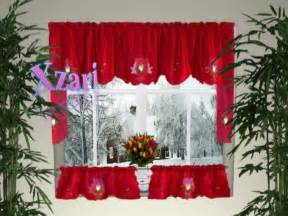 Swag Curtain Ideas For Living Room by Holiday Curtains Valances Christmas Kitchen Curtain B2