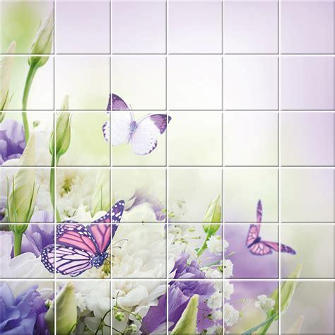 pose cuisine pas cher stickers carrelage fleurs papillons pas cher