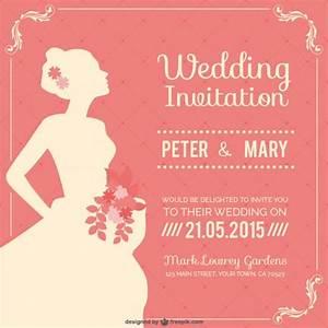 vintage wedding invitation vector free download With wedding invitation template freepik