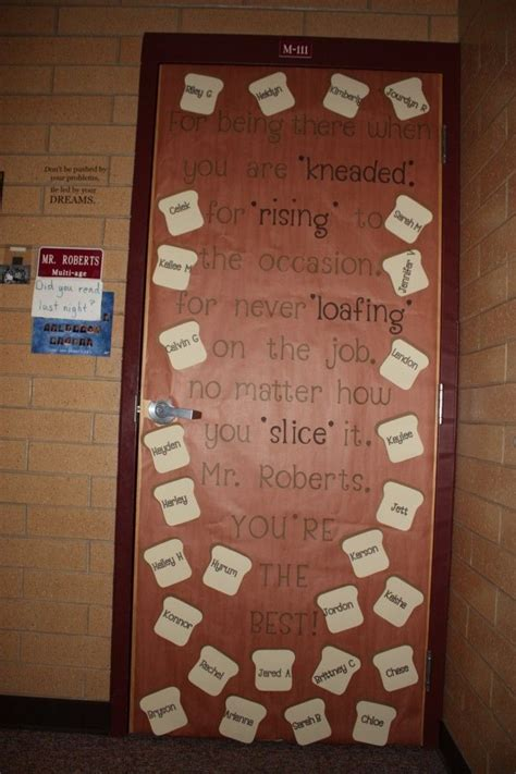 classroom door decorations brown  images teacher