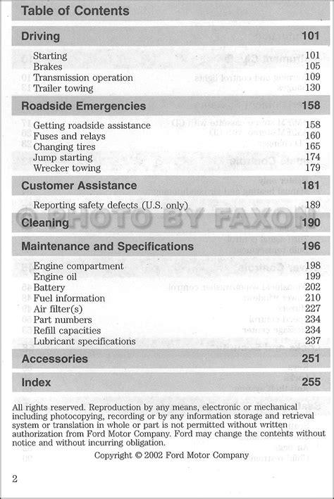 ford super duty owners manual original