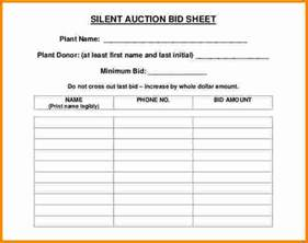 Free Template For Silent Auction Bid Sheets 8 Silent Auction Bid Sheet Cashier Resume