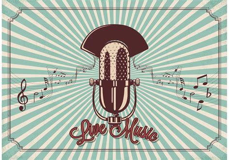 Free Vintage Microphone Vector