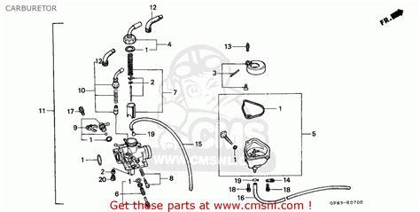 honda qr50 1994 r australia carburetor schematic partsfiche