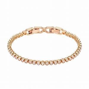 swarovski emily pink crystal rose gold plated bracelet With bracelet