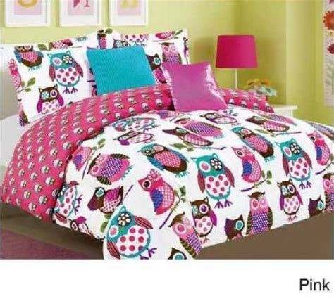 owl comforter set bedspread bed bag sheet bedding bedroom