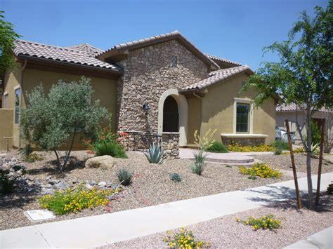 desert landscaping front yard front yard desert landscape mediterranean exterior phoenix by mth design group