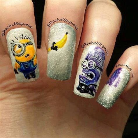 Uv Gel Nail Kits With Lamps by The Best Of Despicable Me Minion Nail Art Total Nail Art
