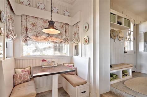Under Window Bench With Storage by Romantic Hill Country Dream Shabby Chic Style Kitchen