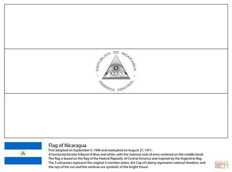 El Salvador Flag Free Coloring Pages