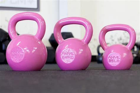 pink dumbbells gym workout kettle kettlebells kettlebell christmas fitness ball 35lb bought bob maybe sandbags