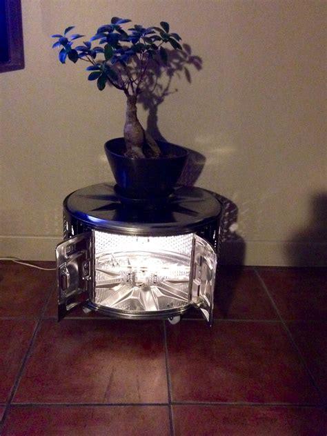 lit mezzanine avec canapé convertible table basse faite a partir d un tambour de machine a laver
